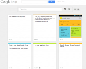 Google Keep version web