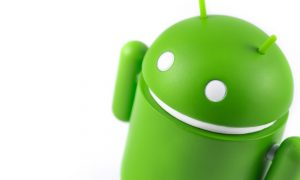 Android figure on the white background. Android is the operatin